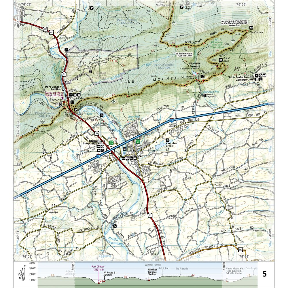 Great Miami Outfitters Books Maps National Geographic - Appalachian trail topo map