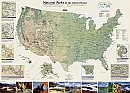 National Geographic National Parks Wall Map