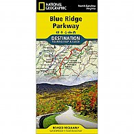 Natl Geo Blue Ridge Pkwy Map