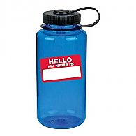 "Nalgene Tritan WM Bottle - 32 oz. ""Hello My Name Is..."""