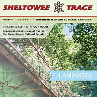 Sheltowee Trace Trail Map North