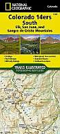 National Geographic Colorado 14ers South [San Juan, Elk, and Sangre de Cristo Mountains] Map