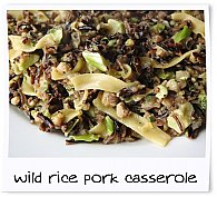 Camp Chow - Wild Rice and Pork Casserole Prepared