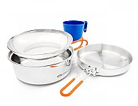 GSI Glacier Stainless Mess Kit Expanded