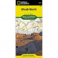 National Geographic Moab North Trail Map