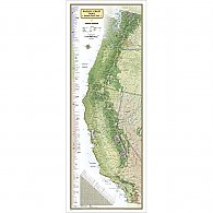 National Geographic Pacific Crest Trail Wall Map, Laminated