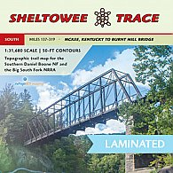 Sheltowee Trace Trail Map South