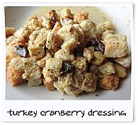 Turkey Cranberry Dressing Entree Prepared