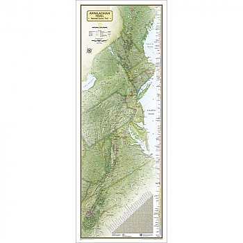 National Geographic Appalachian Trail Wall Map, Boxed