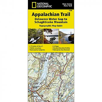 National Geographic Appalachian Trail, Delaware Water Gap to Schaghticoke Mountain (New Jersey, New York) Trail Map