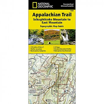 National Geographic Appalachian Trail, Schaghticoke Mountain to East Mountain (Connecticut, Massachusetts) Trail Map