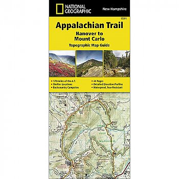 National Geographic Appalachian Trail, Hanover to Mount Carlo (New Hampshire) Trail Map