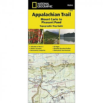 National Geographic Appalachian Trail, Mount Carlo to Pleasant Pond (Maine) Trail Map