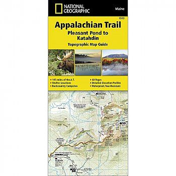 National Geographic Appalachian Trail, Pleasant Pond to Katahdin (Maine) Trail Map