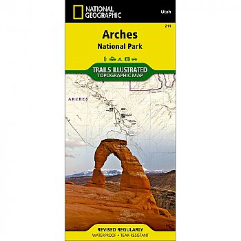 National Geographic Arches National Park Trail Map