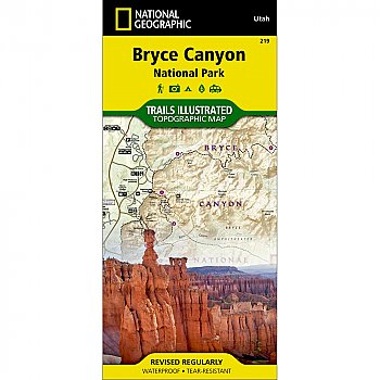 National Geographic Bryce Canyon National Park Trail Map