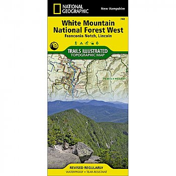 National Geographic White Mountain National Forest West, Lincoln and Franconia Notch Trail Map
