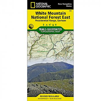 National Geographic White Mountain National Forest East, Presidential Range and Gorham Trail Map