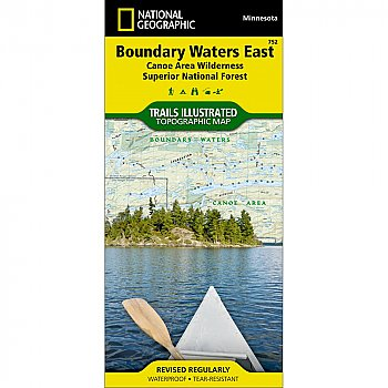 National Geographic Boundary Waters - East, Superior National Forest Trail Map