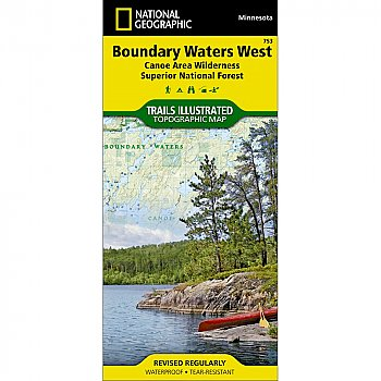 National Geographic Boundary Waters - West, Superior National Forest Trail Map