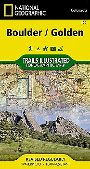 National Geographic Colorado Boulder, Golden Map