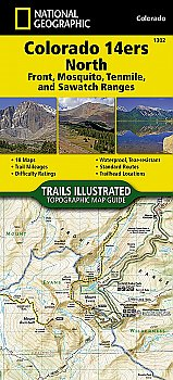 National Geographic Colorado 14ers North [Sawatch, Mosquito, and Front Ranges] Map