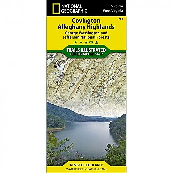 National Geographic Covington, Alleghany Highlands [George Washington and Jefferson National Forests] Trail Map