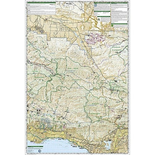 National Geographic Los Padres National Forest, East Trail Map