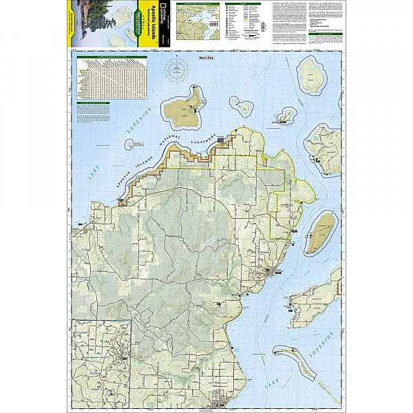 National Geographic Apostle Islands National Lakeshore Trail Map