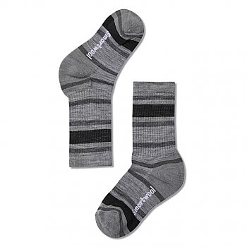 Smartwool Kids Striped Light Hiking Crew Socks